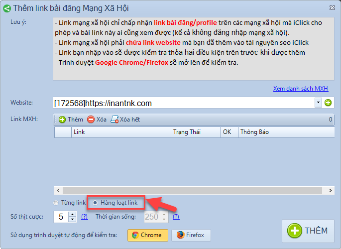 Phần mềm tăng traffic iclick phiên bản 1.1.0.6