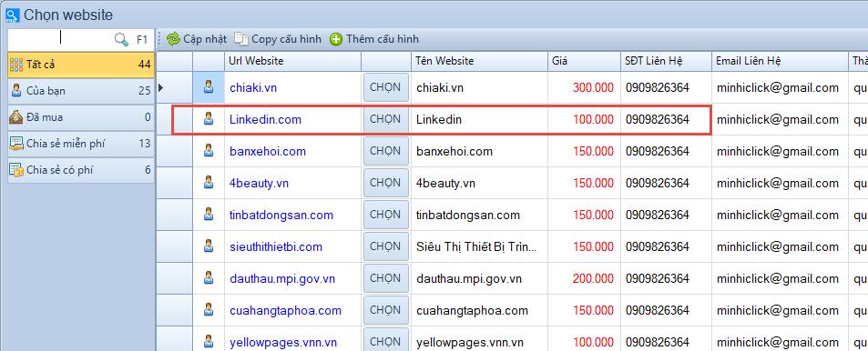 Phần mềm Scan Web Pro