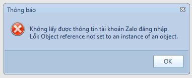 Hướng dẫn sửa lỗi không lấy được thông tin tài khoản Zalo đăng nhập