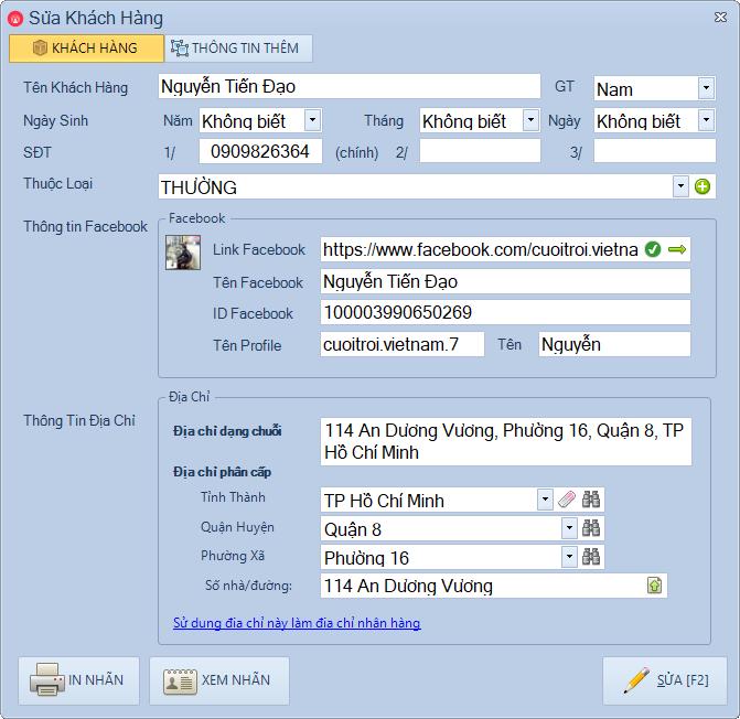 Quản lý khách hàng phần mềm Livestream Pro