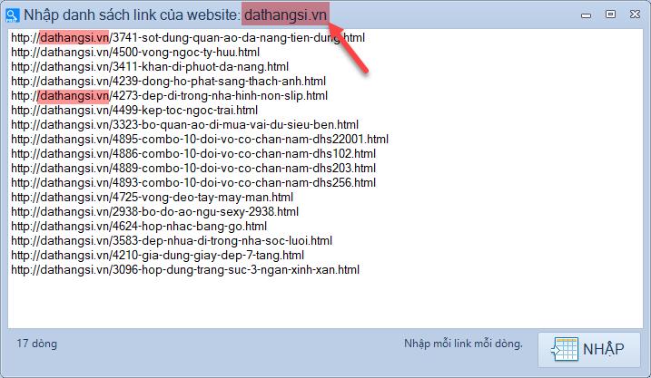 Quét link scan web pro