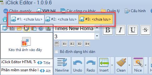 Soạn thảo nhiều bài viết cùng lúc trên nhiều Tab với iClick Editor