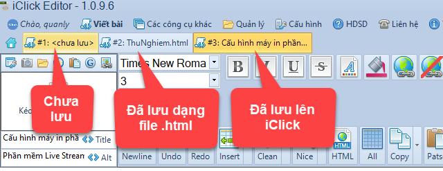 Soạn thảo nhiều bài viết cùng lúc với iClick Editor