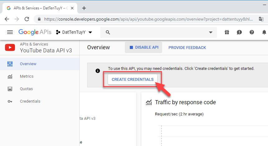 Hướng dẫn cách tạo file json để xin quyền truy xuất Youtube