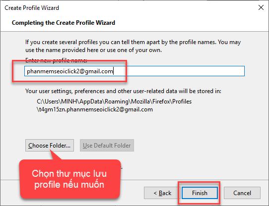 Tạo hồ sơ (profile) cho Firefox