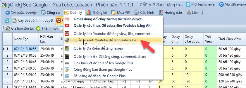 Thêm backlink tăng sub kênh youtube