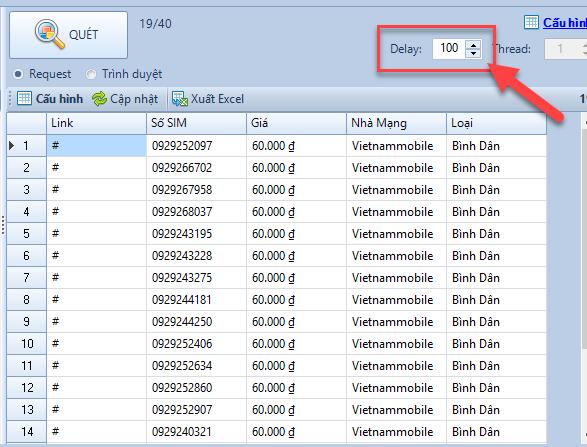 Update phần mềm quét dữ liệu từ website Scan Web Pro