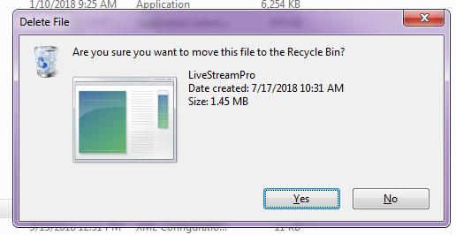 Xử lý lỗi phần mềm LiveStream Pro