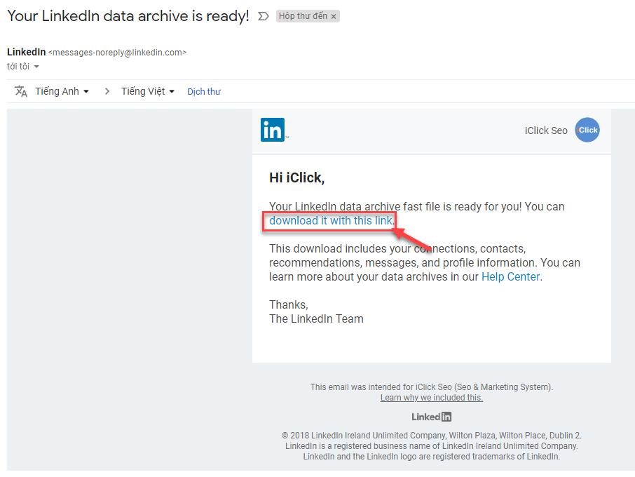 Xuất danh dách bạn bè trên LinkedIn