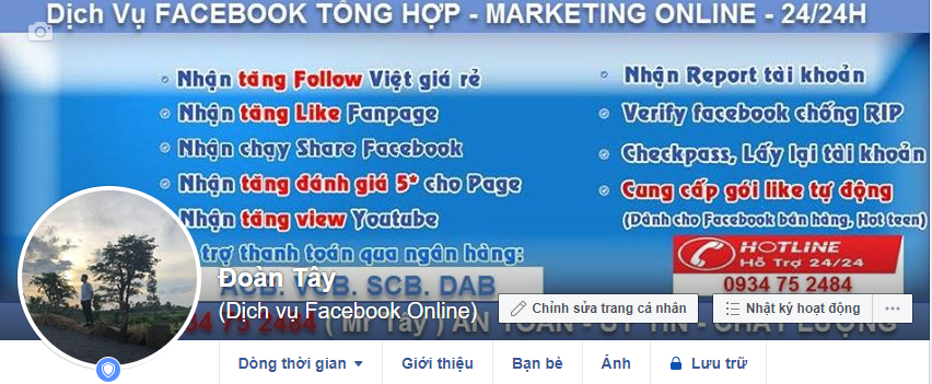Dịch Vụ Tăng Like Sub Follow Facebook Online Click